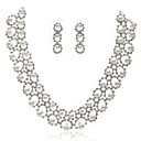 Gorgeous Alloy With Rhinestones/Imitation Pearls Wedding Bridal Necklace and Earrings Jewelry Set