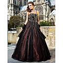 A-line Spaghetti Straps Floor-length Tulle Evening Dresses