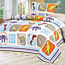 3PCS Dinosaur Pattern Cotton Queen Size Quilt Set