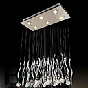300W Contemporary Crystal Pendant Light with 6 Lights in G10 Base