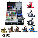 8 Guns Tattoo Kit with LCD Power and 40 Color Ink