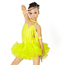 Performance Dancewear Spandex and Tulle with Tassels Latin Dance Dress For Children More Colors