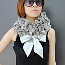 Elegant Rabbit Fur Party / Evening Scarf With Bow
