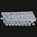 12W Contemporary LED Ceiling Light with Square Base in Crystal Beaded Design
