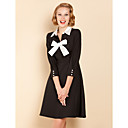 TS noir et blanc Robe swing Bow