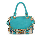 Women's Euramerican Print Chain PU Satchel(25*22*12cm)