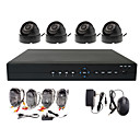4-Kanal CCTV Home Security System mit 4 Indoor Sony CCD-Kamera und D1 Aufnahme H.264 Standalone DVR