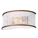 40W Elegant Crystal Beaded Wall Light with Semi-Cylinder Fabric Shade