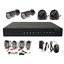 4CH D1 H.264 Standalone DVR mit 2 Wasserdichte Outdoor &amp; 2 Indoor Sony CCD-Kamera