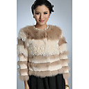 Long Sleeve Rex Rabbit Fur/ Fox Fur/ Tibet Sheep Fur Casual/Party Jacket