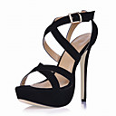 Gorgeous Suede Stiletto Heel Sandals With Buckle Party / Evening Shoes