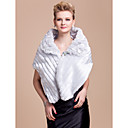 Nice Faux Fur Evening/Wedding Shawl With Crystal Pin