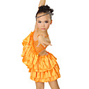 Performance Dancewear Spandex and Satin Latin Dance Dress For Children