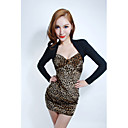 Women's Sexy Contrast Color Sweetheart Neckline Bodycon Dress