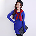 Women's Cabel Knit Long Jupmer with Scarf