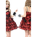 Sleeveless Short Shiny Satin Gothic Party Aristocrat Lolita Dress with Bow