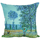 Pas Azul Floresta Suede fronha decorativa