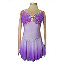 Dumb Light Spandex Elasticated Net  Figure Skating Clothing Purple