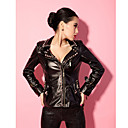 Studded kunstleer dames Jacket