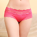 Women's Sexy Low Rise Lace Hollow Flower Panties(Waist:60-77cm,Hip:95cm)