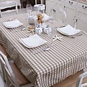 Grey &amp; White Color Plaid Table cloth