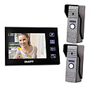 "7"" LCD Color Video Door Phone,with SD Card Picture Record,Taking Photo (2 Camera To 1 Monitor)"