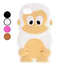3D Design Cute Monkey Pattern Soft Case fr iPod Touch 4 (verschiedene Farben)