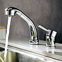 Contemporary Chrome Finish Widespread Kitchen Faucet