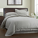 3PCS Solid Linen Duvet Cover Set