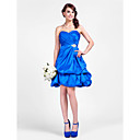 A-line Sweetheart Short/Mini Taffeta  Bridesmaid Dress