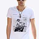Herren V Neck Lässige Short Sleeve T-Shirt