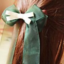 Women's Layered Green Galloon Bow Hair Clip