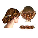 High Quality Synthetic Light Brown Hair Pieces