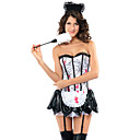 Sexy and Scary White Polyester Black Trim Zombie Maid Suit(3 Pieces)