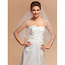 ElegantOne-tier Elbow Wedding Veils With Cut Edge