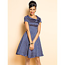 TS VINTAGE Print Bow Tie Dress