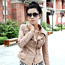 Long Sleeve Turndown Collar PU Casual/Party Jacket(More Colors)