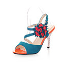 Suede Stiletto Heel Sandals With Flower Party / Evening Shoes (More Colors)