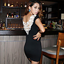 Women's Cutwork Back Bodycon Dress