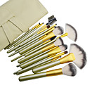 18PCS High Quality Professional Green Tube Cosmetic Brush Set