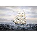 Printed Art Landscape Clipper Ship by Jack Wemp