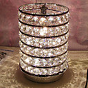 120W Contemporary Table Light with 6 Lights and Glittering Crystal Beads Shade in Metal Skeleton
