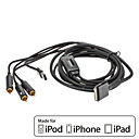 CAPDASE AV Composite Cable for Apple iPhone & iPod & iPad Series (MFi Certificate)