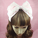 Roze Cotton Bow Sweet Lolita hoofdband