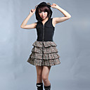 Sleeveless Short Black Leopard Cotton Punk Lolita Dress
