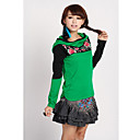 Women's Cotton Hooded Embroidery Top