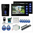 "New 7"" Color Hands Free Video Door phone with 2 Monitors(RFID keyfobs,Magnetic lock,Remote Control)"