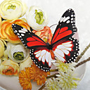 Pretty Black And Red Plastic Butterfly (Set Of 6)