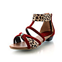 Leatherette Low Heel Sandals With Zipper Party / Evening Shoes (More Colors)