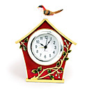Bird House Desgin Painting Polyresin Alarm Clock
